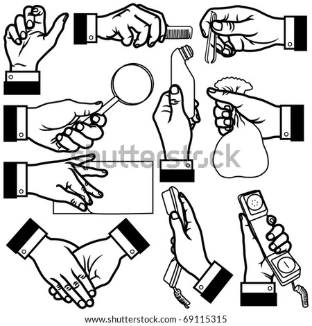Vector Hands - stock vector
