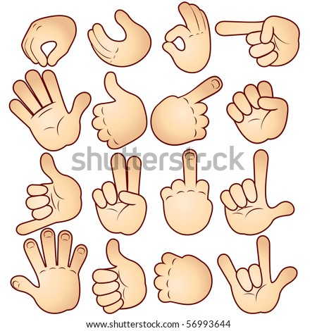 Vector hands collection - stock vector