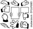 Vector hands in different poses. Please view my portfolio for more vector illustration. - stock vector