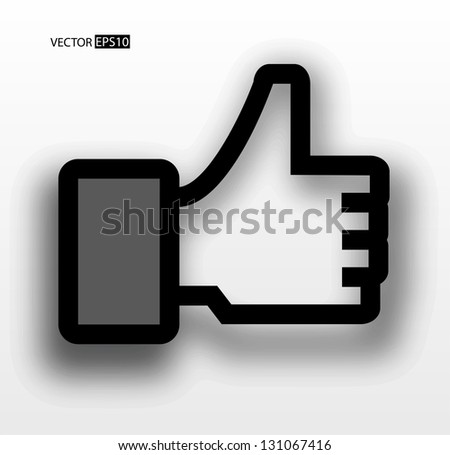 """Vector hands thump up, """"Like"""" sign. - stock vector"""