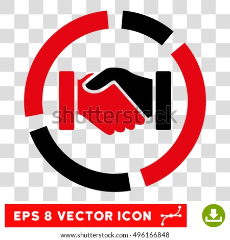 Vector handshake diagram eps vector pictogram stock vector 2018 vector handshake diagram eps vector pictogram illustration style is flat iconic bicolor black and intensive ccuart Image collections