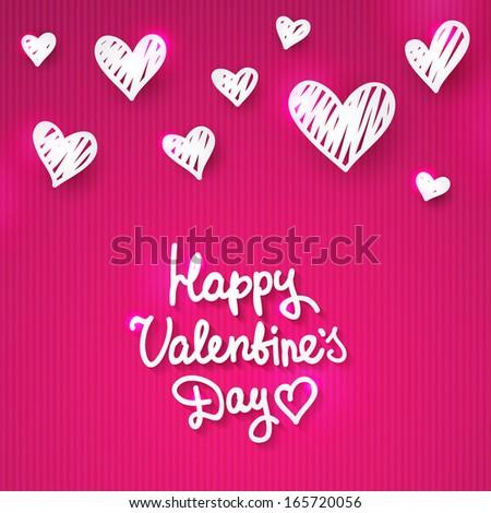 vector handwrite text, happy valentine's day - stock vector