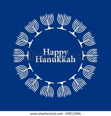 Vector Hanukkah background - stock vector