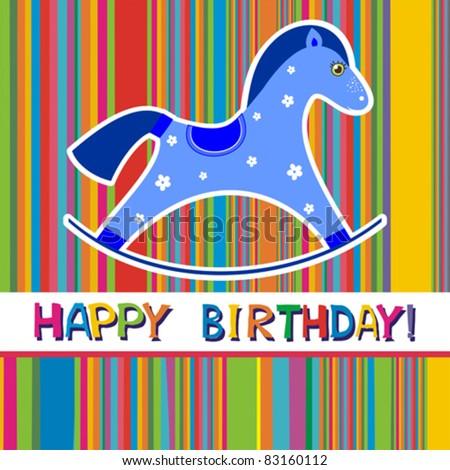 Vector happy birthday card. - stock vector