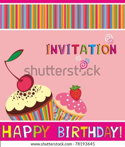 Ultraman birthday cake birthday cake and birthday decoration ideas vector happy birthday card cupcake invitation background stock stopboris Images