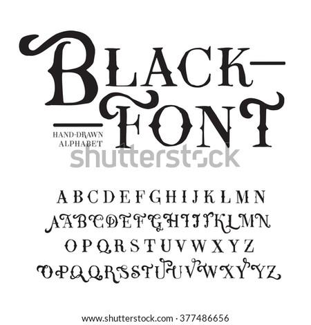 Handmade Font Images RoyaltyFree Images Vectors – Birthday Card Font