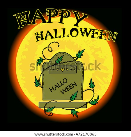 vector happy halloween greeting card invitation banners illustration of gravestone and tombstone with