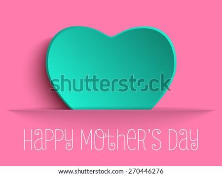 Vector - Happy Mother Day Heart Background - stock vector