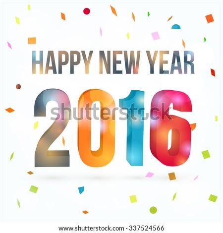 Vector Happy New Year 2016 - stock vector
