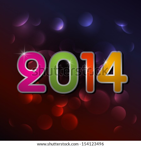 Vector Happy New Year 2014 Background