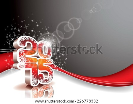 Vector Happy New Year 2015 celebration background. EPS 10 illustration. - stock vector