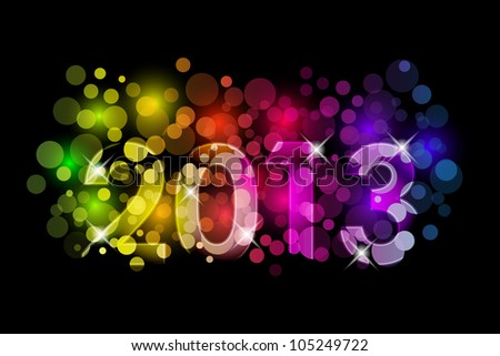 Vector Happy New Year - 2013 colorful background - stock vector
