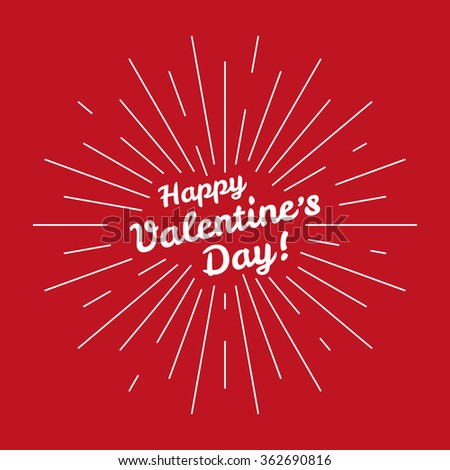 Vector happy valentines day love heart greating card ivitation background template