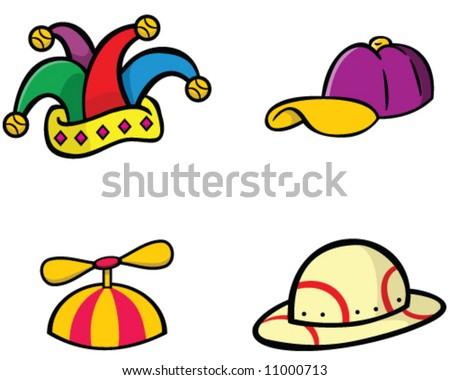 baseball baby beanie hat stock vector collection jester cap propeller safari helmet