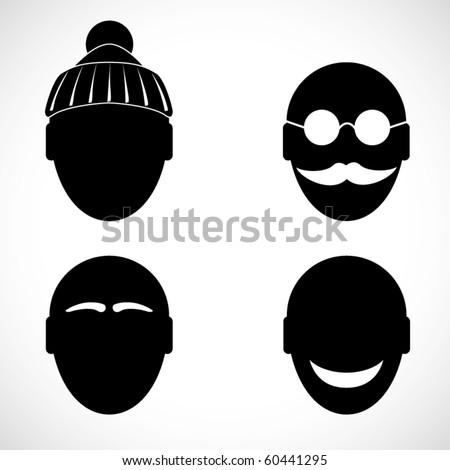 Vector head signs. Set 2 - stock vector