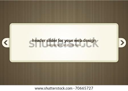 Vector header slider for your web design - stock vector