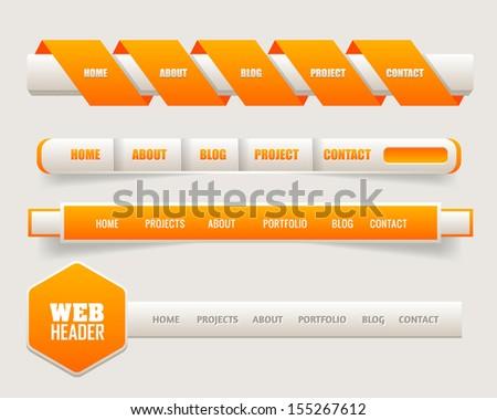 Vector Header Web Menu Design - stock vector
