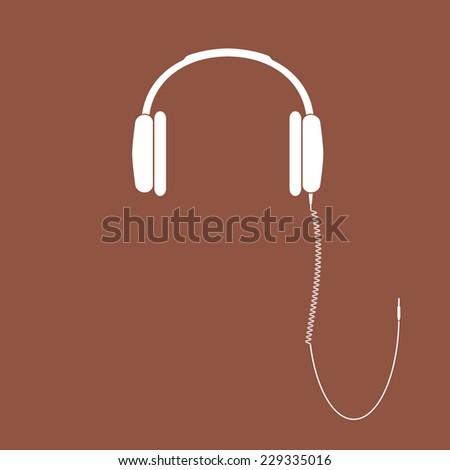 Vector headphones icon. DJ Headphones.  - stock vector