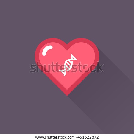 Vector Heart & conceptual icon