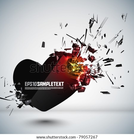 Vector Heart Crushing - stock vector