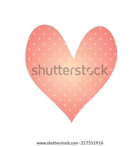 Vector heart shape - stock vector
