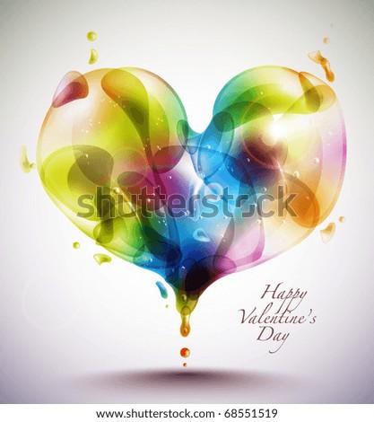 Vector Heart Shape Bubbles - stock vector