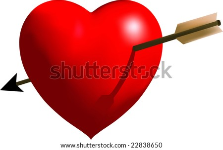 Vector Heart with Cupid's Arrow