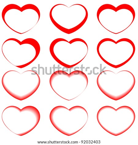 vector hearts - stock vector
