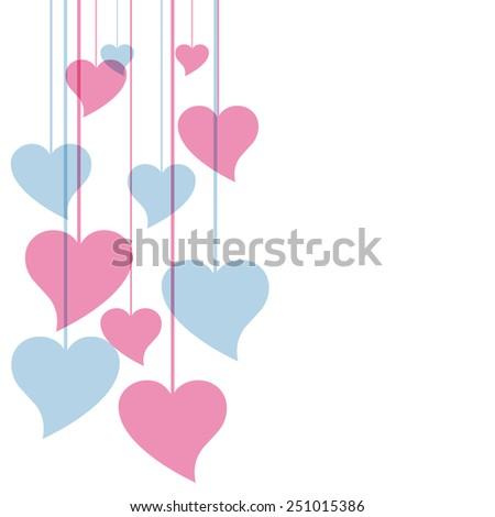 Vector hearts background - stock vector