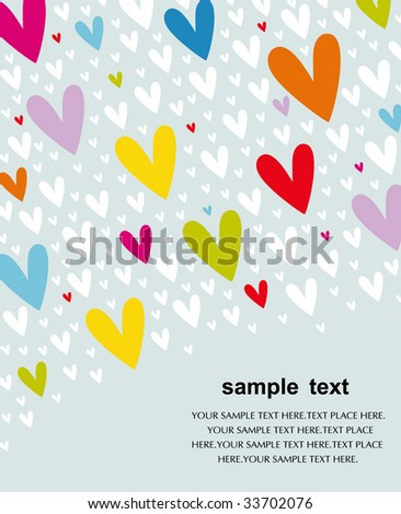 Vector hearts background design