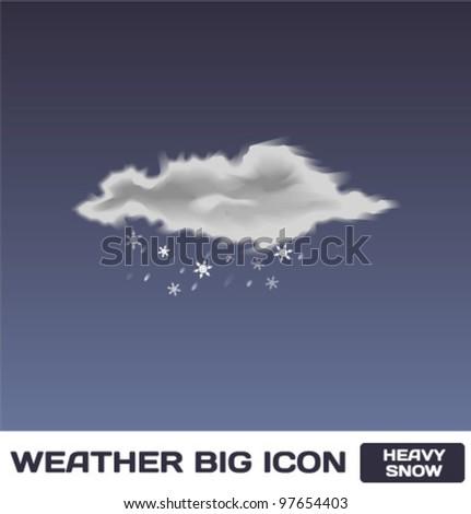 Vector Heavy Snow Icon - stock vector