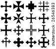 Vector heraldic crosses - stock vector