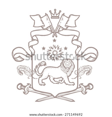 Vector Heraldic Royal Crests Coat Arms Stock Vector