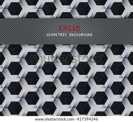 Vector hexagons background. Geometric pattern. Retro geometric hexagon backdrop. Polygonal unusual comb texture. Textured design elements. Eps10 - stock vector