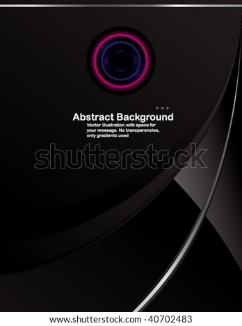 Vector. Hi-tech background in Letter format. No transparencies, only gradients used. - stock vector