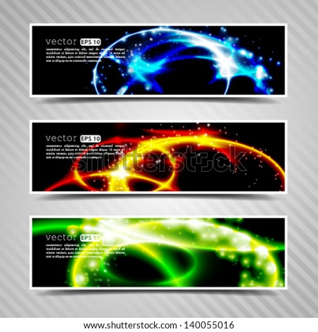 Vector hi-tech urban technology related banner template, motion graphics - separated layers. - stock vector