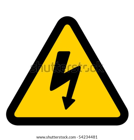 vector high voltage sign - stock vector