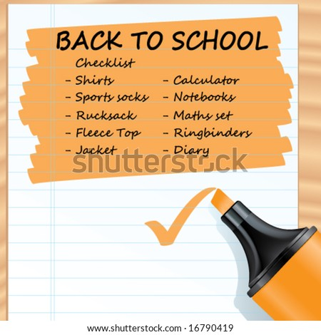 Vector Highlighted Background (You can easily change the text to whatever you want to write about) - stock vector