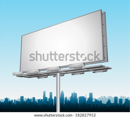 Vector highway ad billboard roadside - stock vector