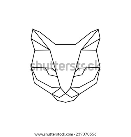 Geometric Cat Head Geometric Head of Cat of