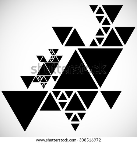 Vector Hipster Triangle Background . Pattern  . Abstract modern Geometrical Design Template . - stock vector