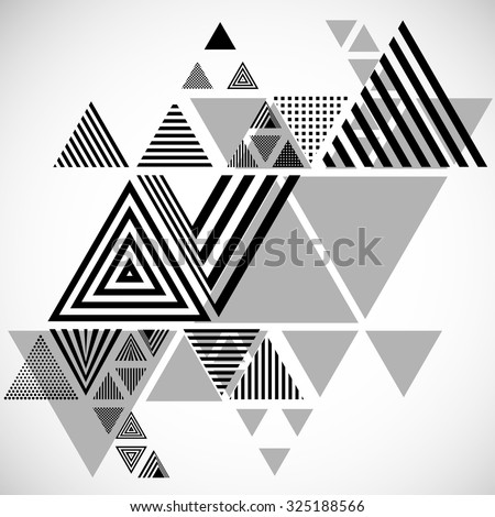 Vector Hipster Triangle Background . Pattern  . Abstract modern Geometrical Design Template .angular shapes. - stock vector