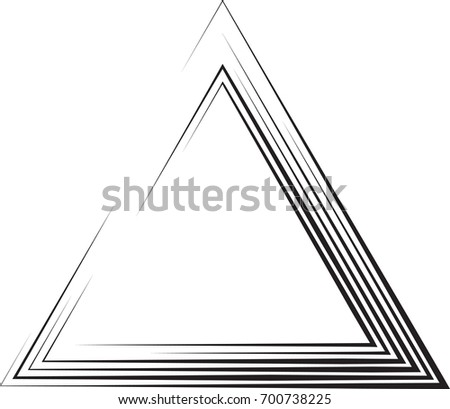 Vector Hipster Triangle Background Striped Border Stock Vector HD ...