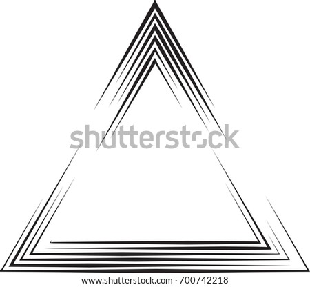 Vector Hipster Triangle Background Striped Border Stock Photo (Photo ...