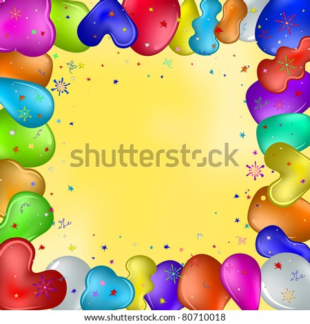 Vector Holiday Background Various Coloured Balloons Stock Vector ...