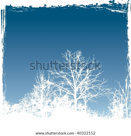 Vector holiday frosty winter windowpane Christmas or New Year's greeting card - stock vector