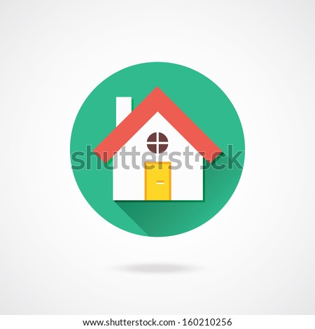 Vector Home Icon - stock vector
