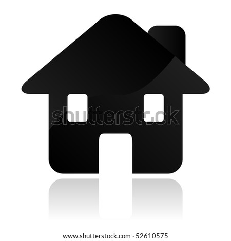 Vector Home icon. - stock vector