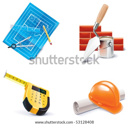 Vector Homebuilding & Renovating icon set. Part 3 - stock vector