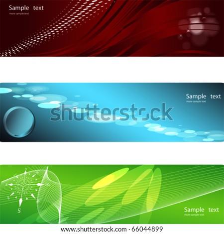 Vector Horizontal Banner - stock vector